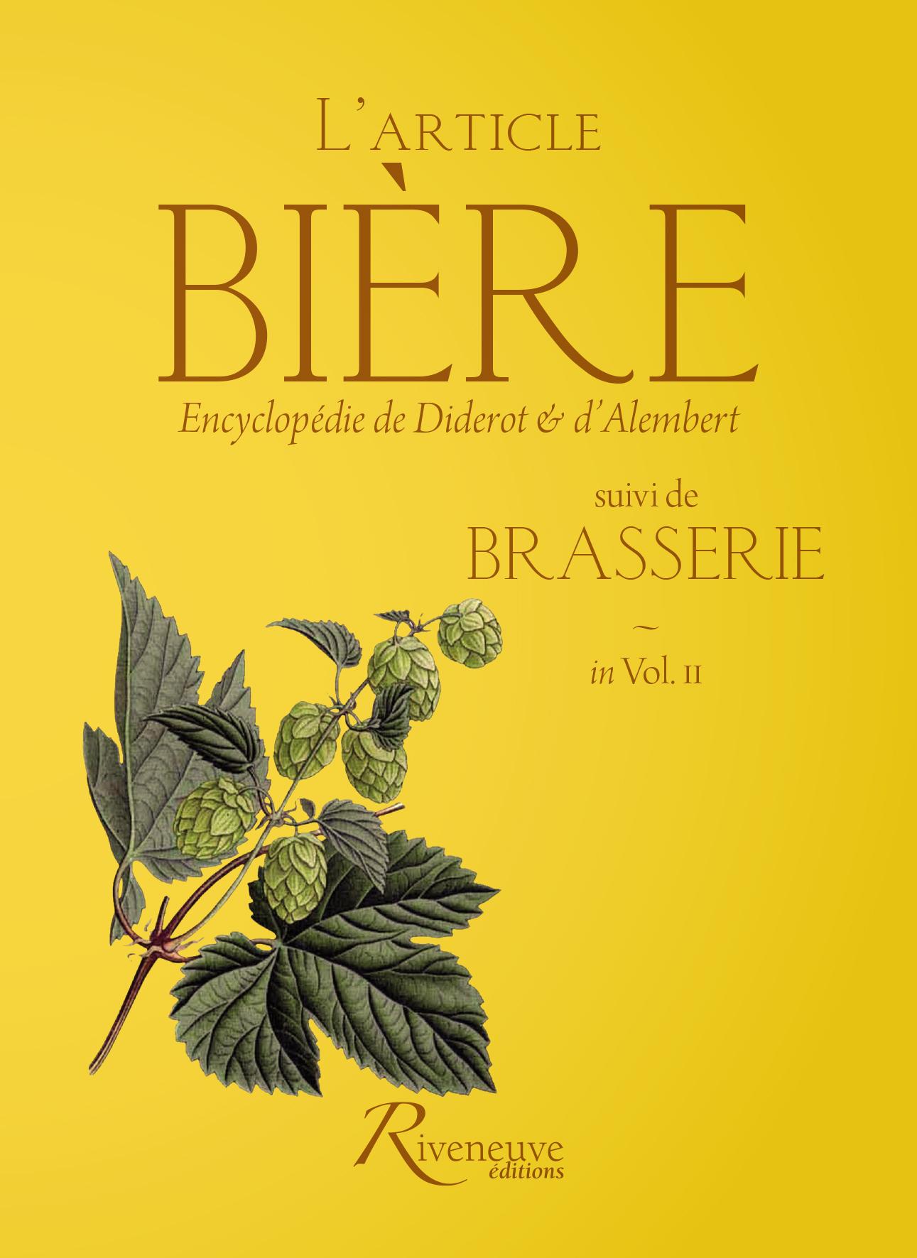 L'article «Bière» suivi de «Brasserie»