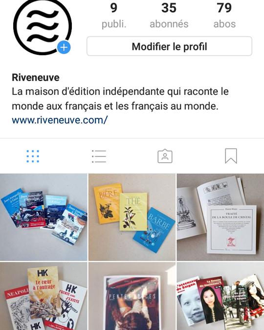 Riveneuve est maintenant sur Instagram!