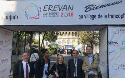 Riveneuve au XVIIe sommet de la Francophonie à Erevan