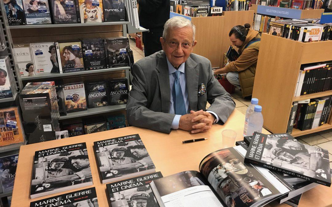 Georges Di Lallo en signature pour « Marine, guerre et cinéma » chez Gibert Joseph