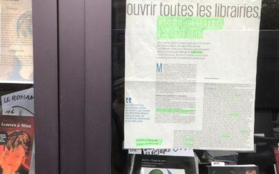 Riveneuve aussi demande la réouverture des librairies