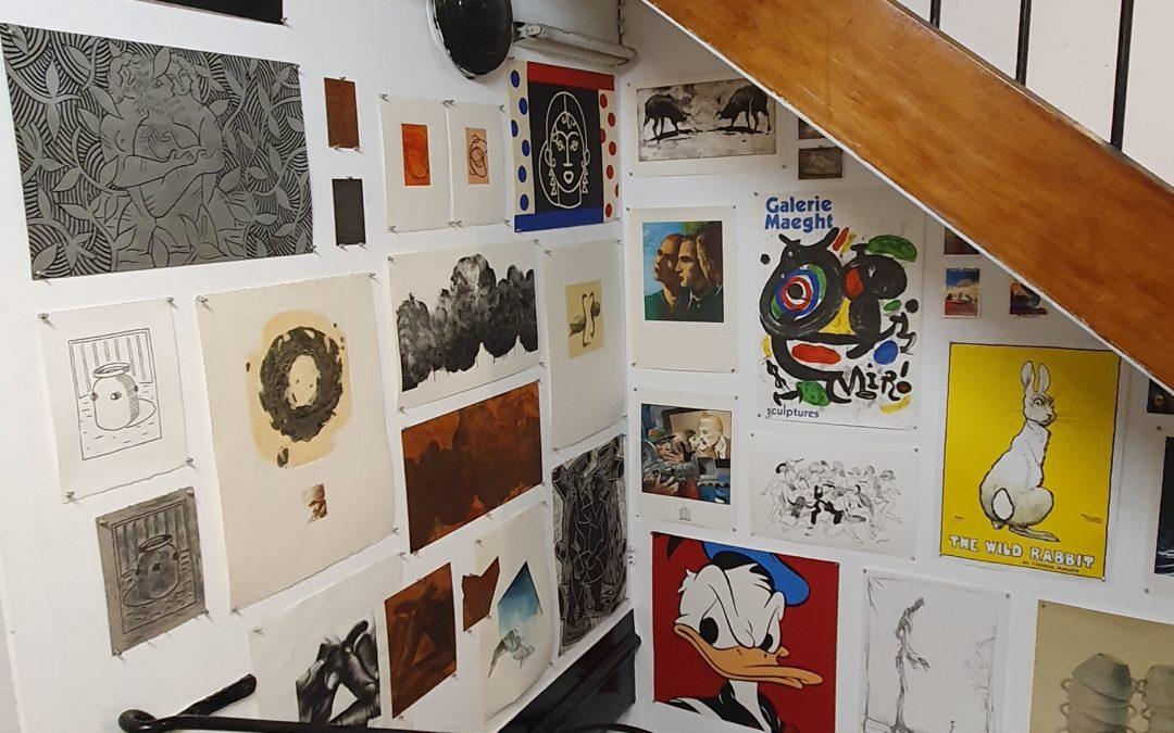 Riveneuve visite les ateliers Arte-Maeght