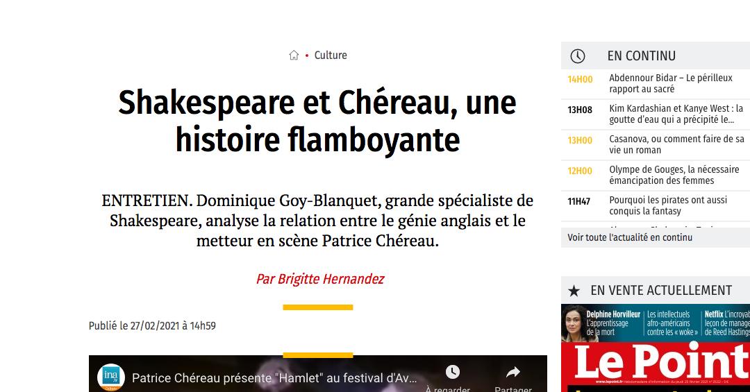 """""""Patrice Chéreau, l'intranquille"""" fait encore parler de lui"""